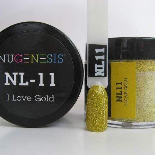 Nugenesis Dipping Powder NL11 - I Love Gold - 1oz Jar