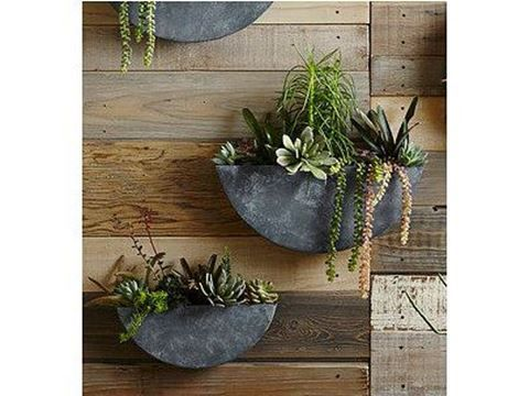 Half Moon Shaped Metal Planters For Air Plants Succulents Etc