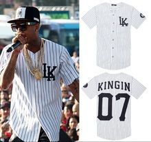 Hip Hop baseball T-shirt casual baseball jersey fashion tends street style man & women couple top & tee short sleeve stripe