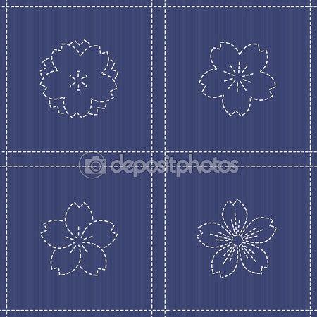 sakura flor bordado - Buscar con Google