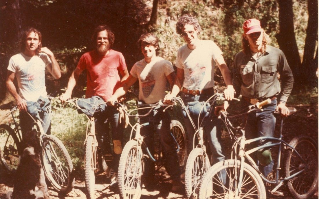 """Old school downhillers. """"We don't need no stinkin' helmets!"""""""