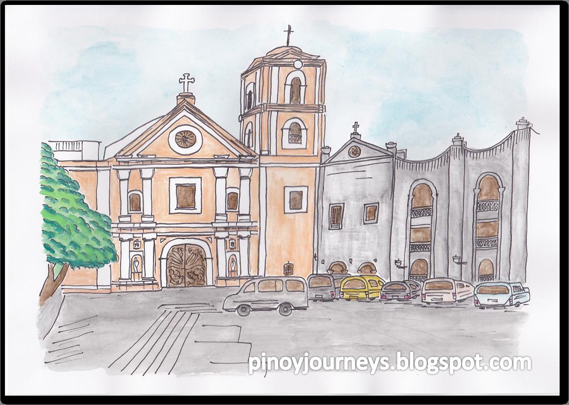 San agustin church watercolor