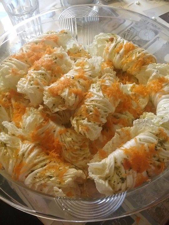 Chinakohl gefüllt mit Mozzarella und Schafskäse von lil-julia | Chefkoch