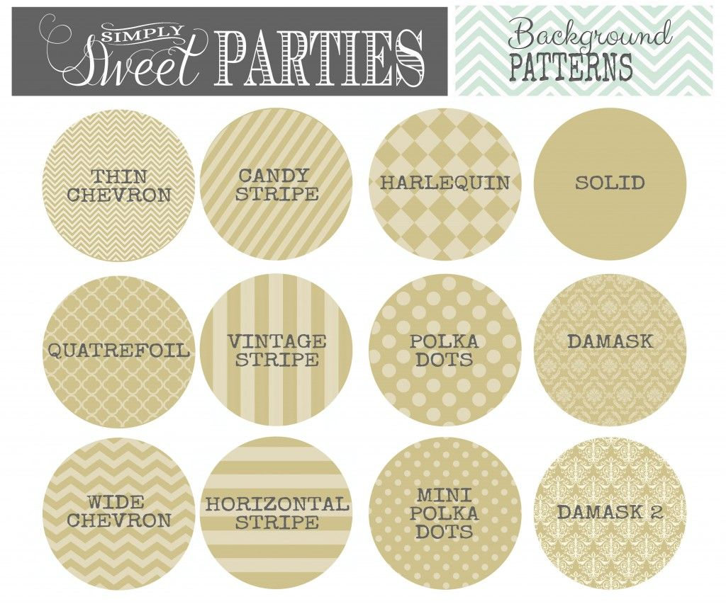 Wedding Pattern Background | Print Your Wedding {Candy Buffets ...