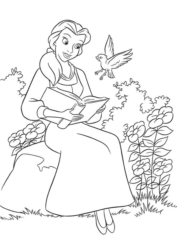 Print Coloring Image Momjunction Belle Coloring Pages Disney Princess Coloring Pages Disney Coloring Pages