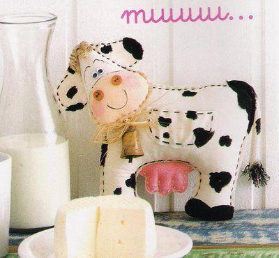 PAP Ateliê Encanto de Bonecas: Vaca