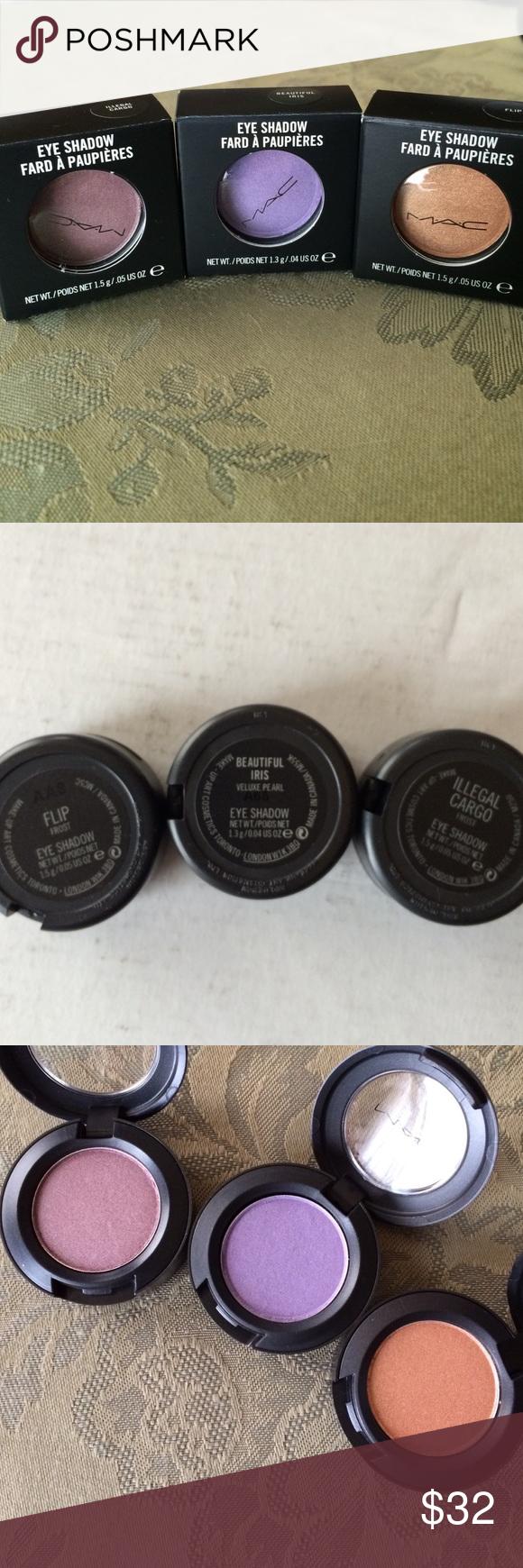 3x NIB MAC Eyeshadows Discontinued Boutique Eyeshadow