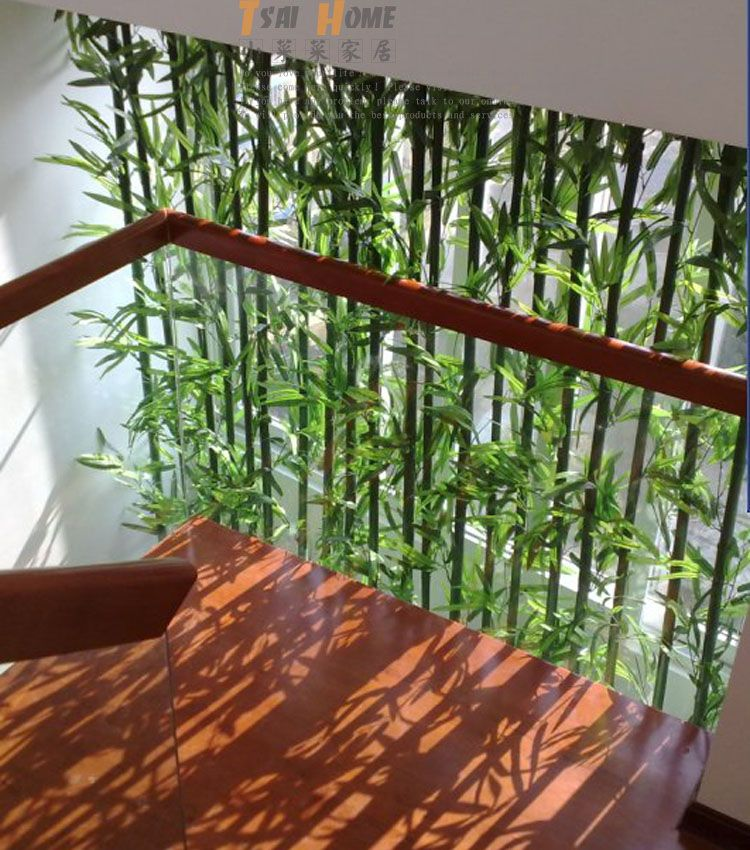 Artificial Bamboo Green Bamboo Artificial Tree Fake Tree Balcony Partition Screen Home Decoration Inother Vertical Garden Design Bamboo Garden Artificial Tree