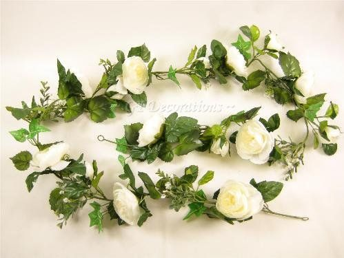 "68"" Artificial Silk Flower Ranunculus (Cab Rose) Garland (Cream) from GT Decorations GT Decorations http://www.amazon.co.uk/dp/B001PF363M/ref=cm_sw_r_pi_dp_M-6Xub14WBXG0"