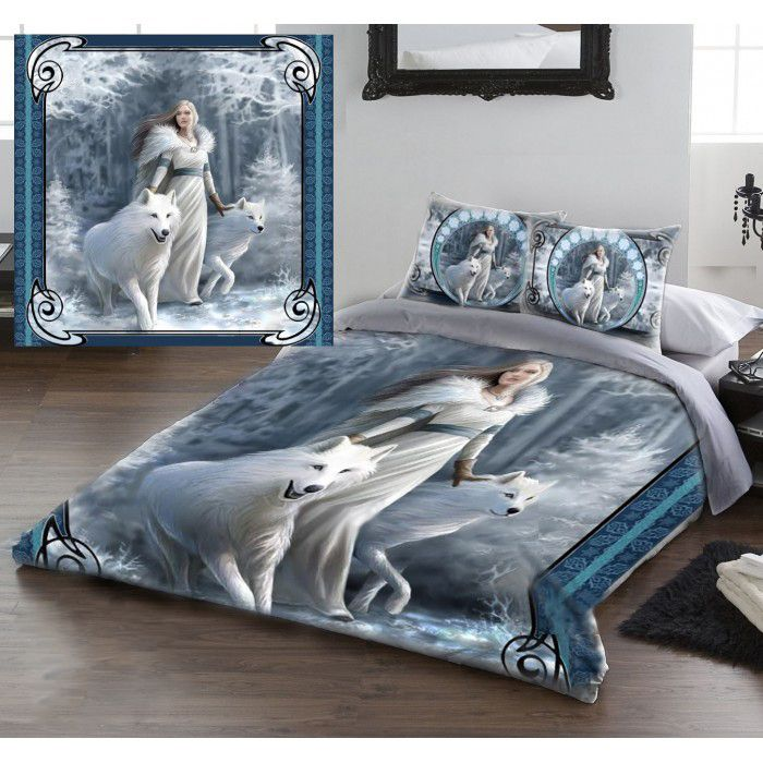 Anne Stokes Winter Guardians Gothic Fairy Double Duvet Set Also In King Size