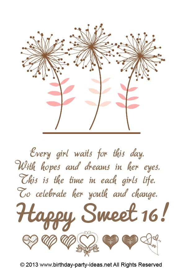 16th Birthday Quotes 16th Birthday Party Ideas | Sweet 16 | Pinterest | Birthday, 16th  16th Birthday Quotes
