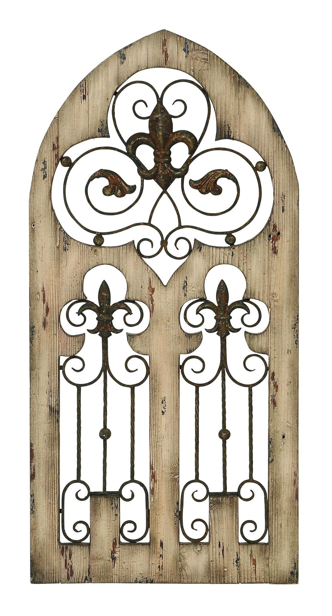 "Wood And Metal Door Wall Decor Prepossessing Wood Metal Wall Decor 50""h 24""w Wall Decor  For The Home Design Decoration"