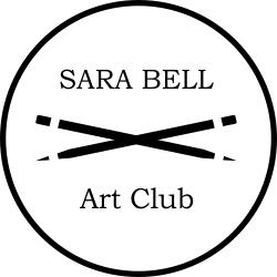Crossing Pencil Brush Art Club Stamp Teacher Stamps Art Club Stamp