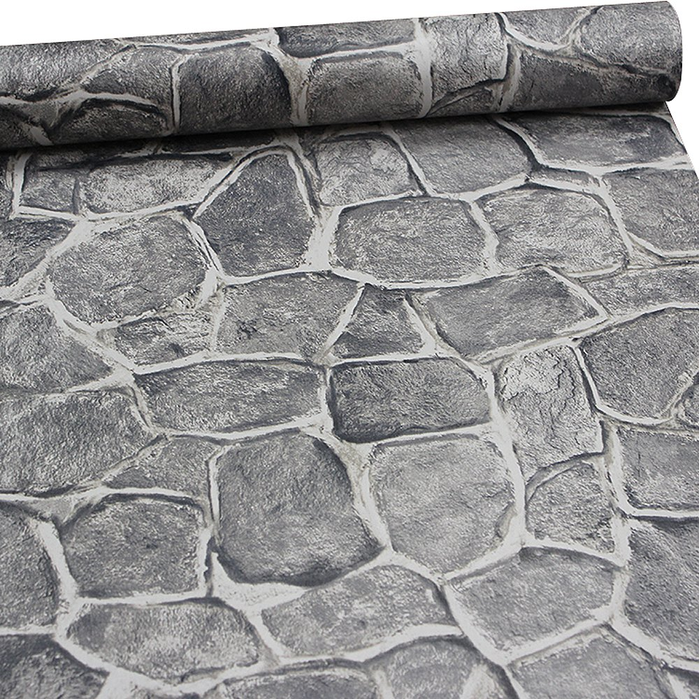 11 Yard Stone Wallpaper Peel And Stick Removable Castle Tower Brick Rock Wall Fortress Amazon Com Stone Wallpaper Faux Stone Wallpaper Grey Stone Wallpaper