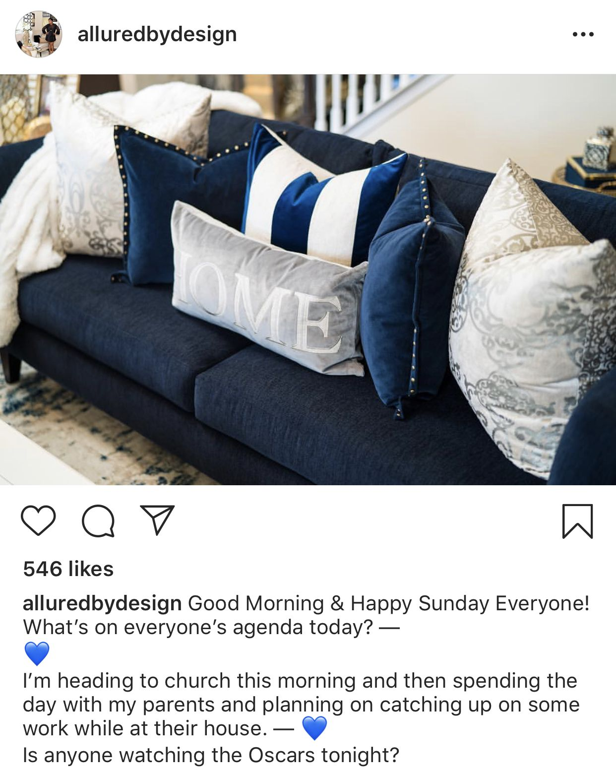 Navy Blue And Gray Couch Pillows What A Combination Blue