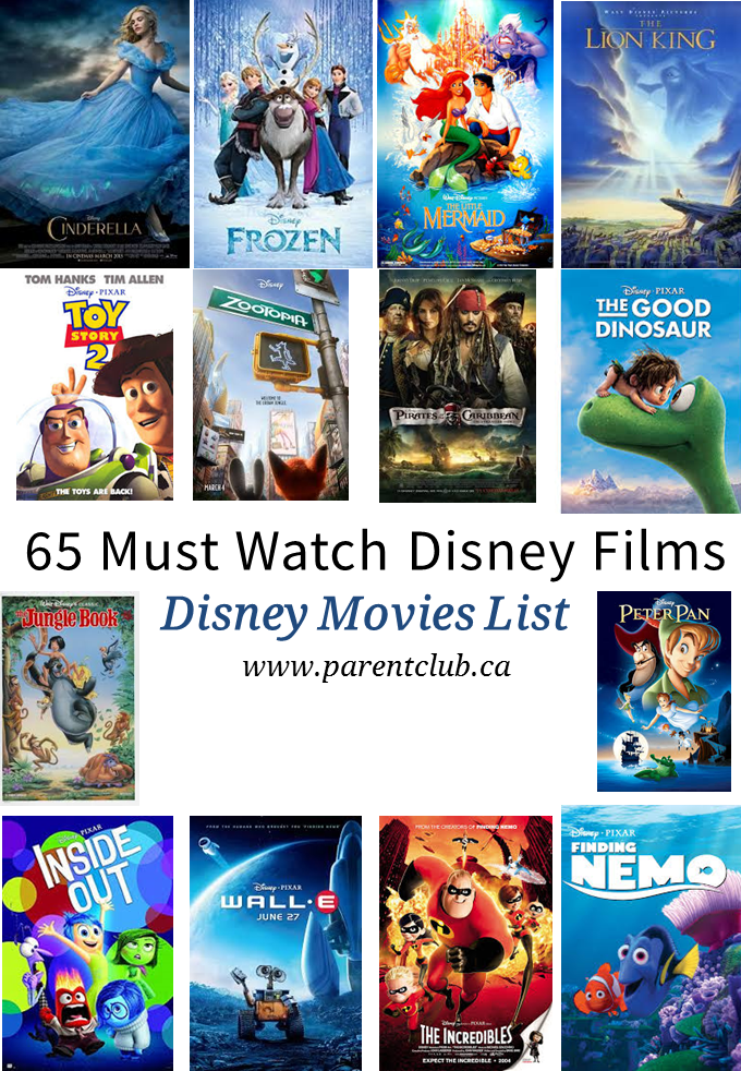65 Must Watch Disney Films Disney movies to watch
