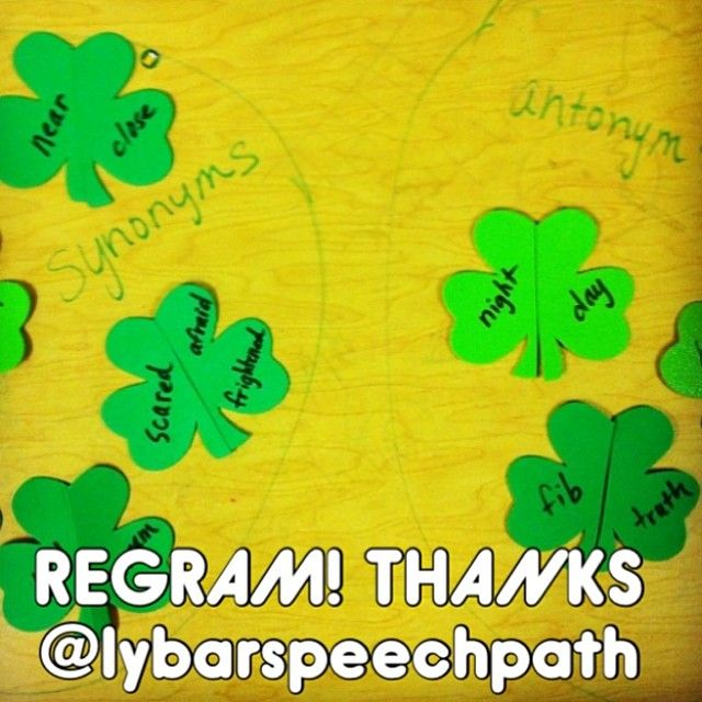 Shamrock Synonyms And Antonyms Thank You Lybarspeechpath For