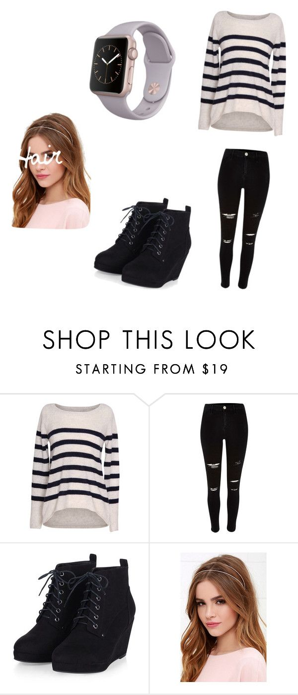 """""""Untitled #26"""" by ali2perf ❤ liked on Polyvore featuring Velvet by Graham & Spencer, River Island and Lulu*s"""