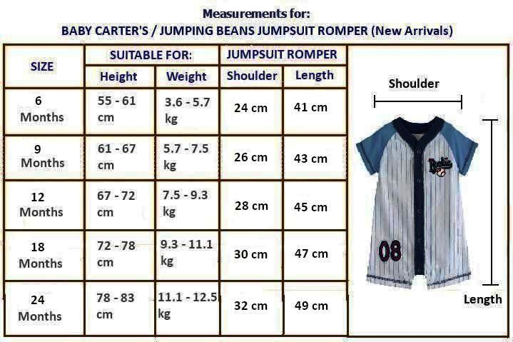 Prince princess baby carter jumping beans jumpsuit romper also best size charts images chart for kids sewing rh pinterest