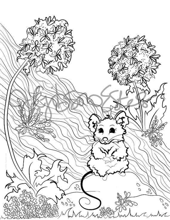 Field Mouse Printable Coloring Page Etsy In 2021 Coloring Pages Printable Coloring Pages Printable Coloring