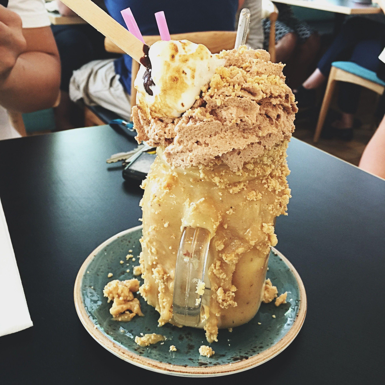 Mini Sized Sneaky Freak Milkshake From PatissezsCanberraAustralia Salted Peanut Caramel Drizzle FrappuccinoWallpapers