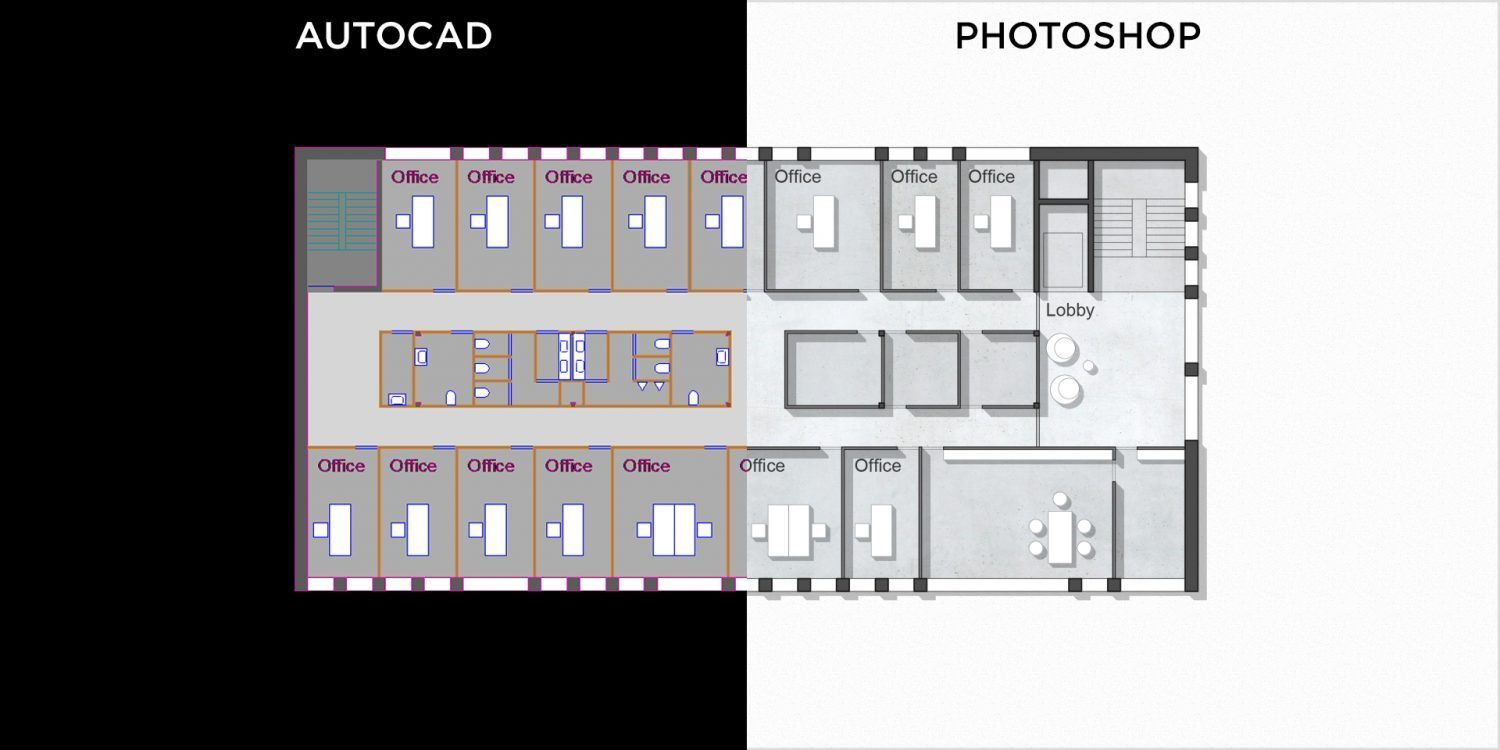 How to Make Beautiful Stylized Floor Plans Using Photoshop