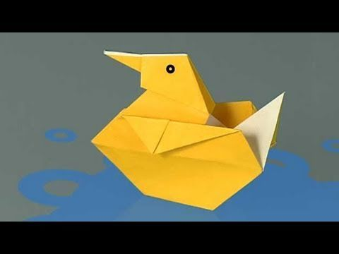 un canard en papier comment faire origami youtube origami. Black Bedroom Furniture Sets. Home Design Ideas