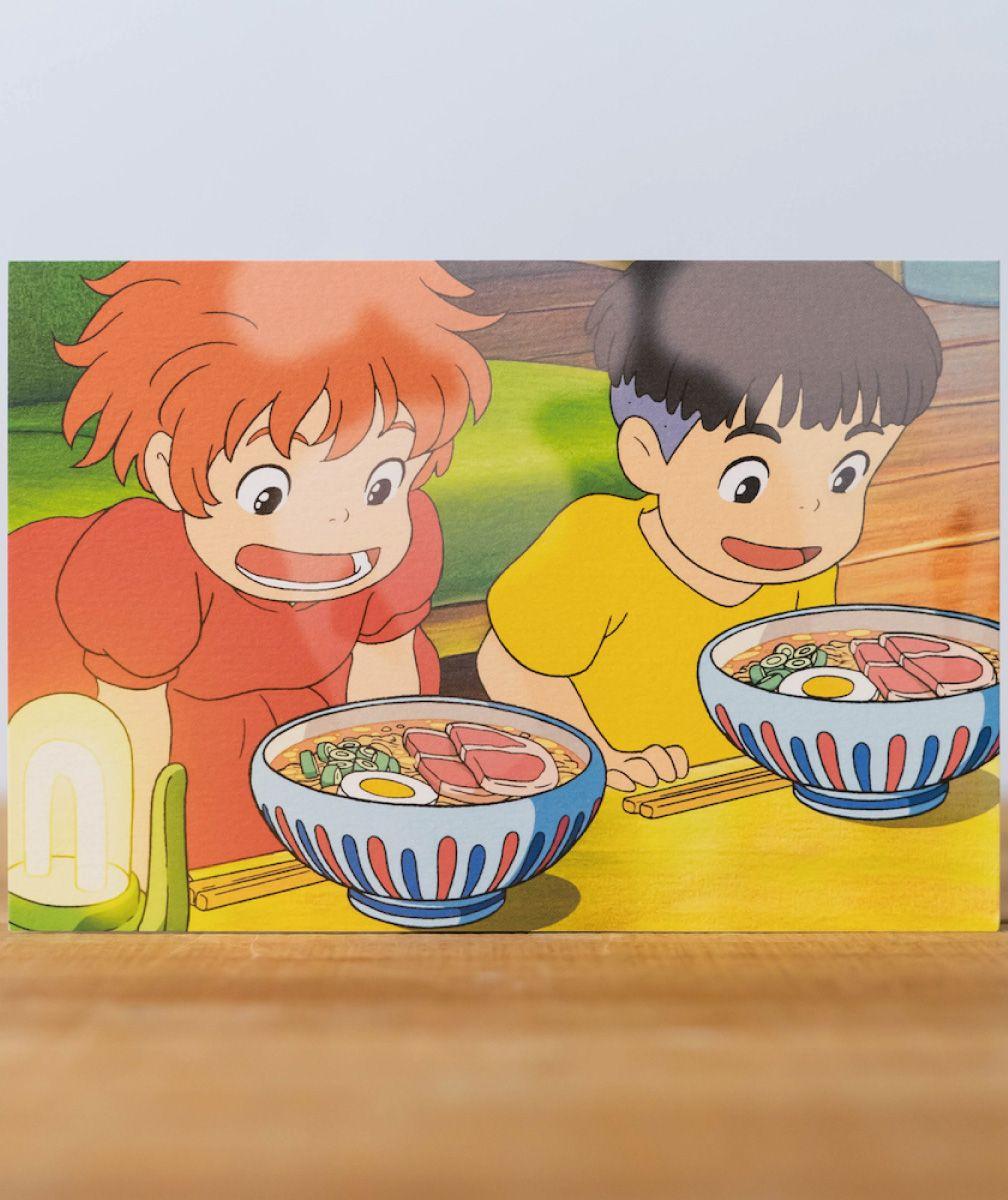 崖の上のポニョ ポストカード 食べ物シリーズ 3266 ポニョ 壁紙 ジブリ ポストカード