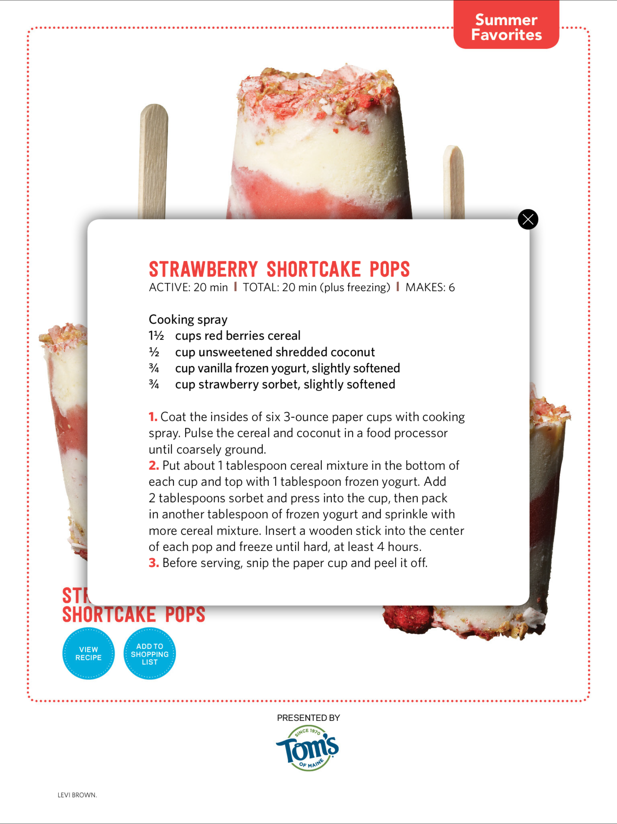 Pin by erika yagel on desserts pinterest recipe cards and recipes strawberry shortcake pop website frozen recipe cards summer food food network magazine food ideas forumfinder Choice Image