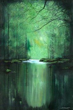 "Saatchi Online Artist Andrew Keola; Painting, ""Tranquil River"" #art"