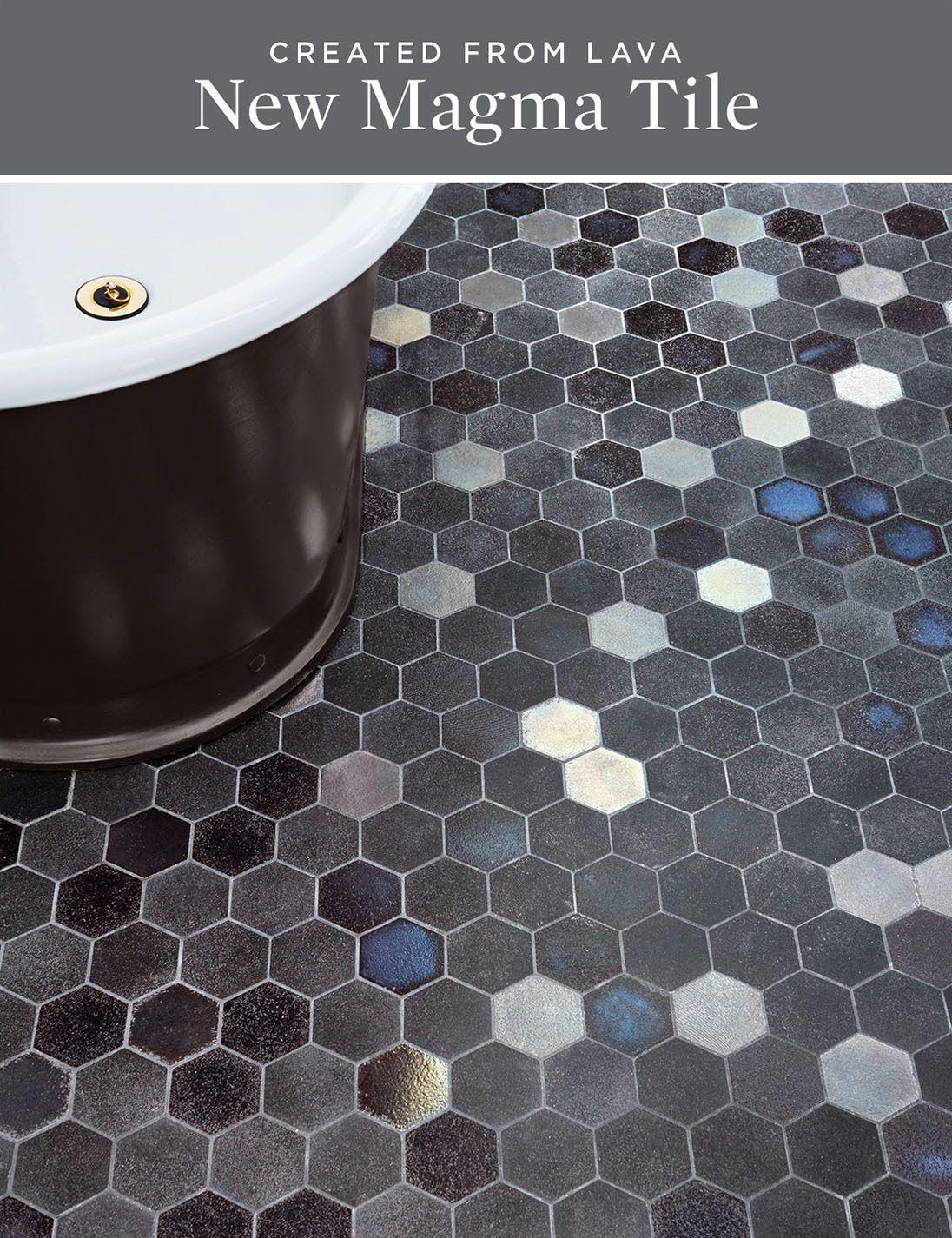 Waterworks Lava Tile Magma In Midnight Ceramic Tile