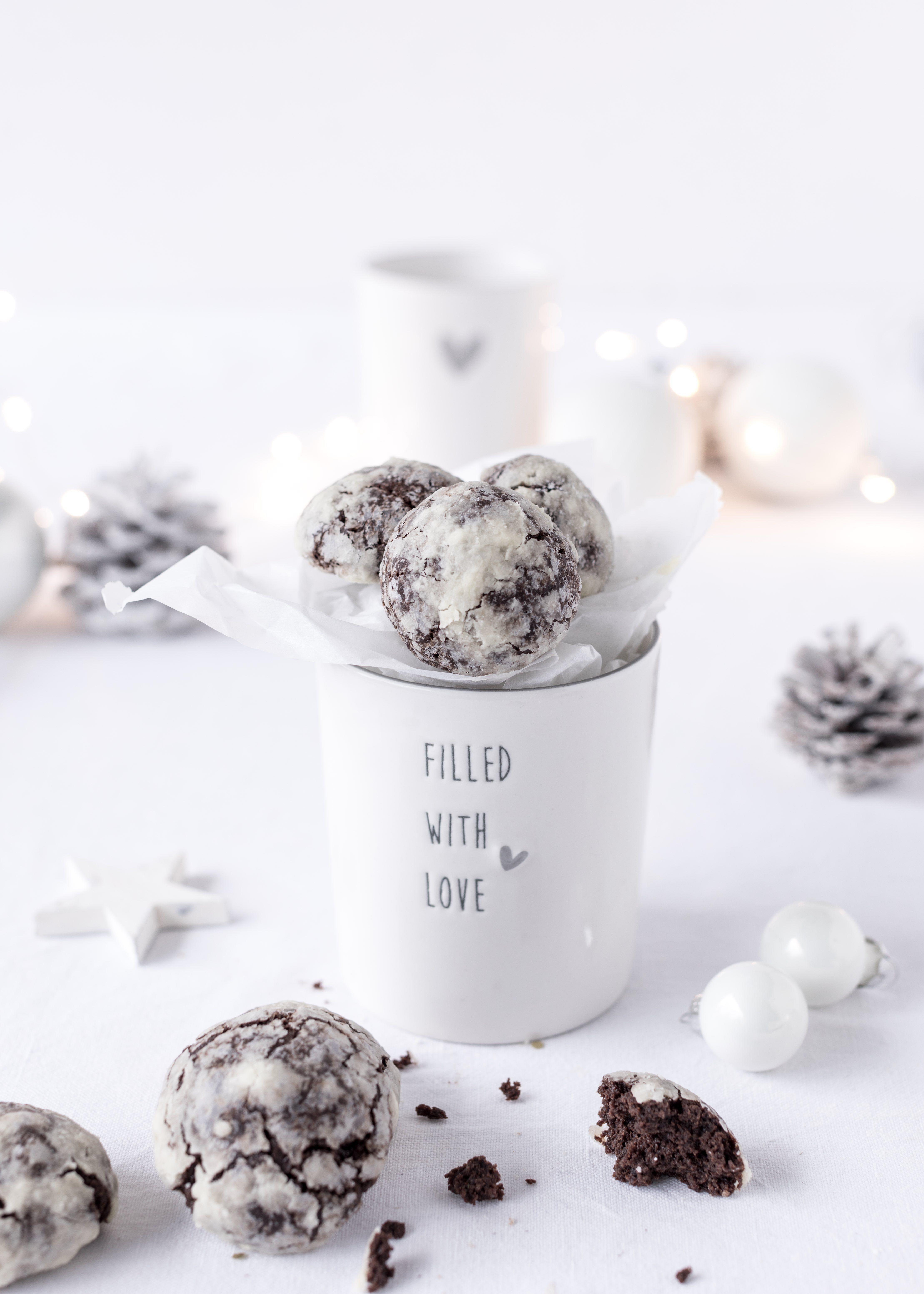 Schoko-Schneebälle // Chocolate Crackles   Christmas Cookies Recipes ...
