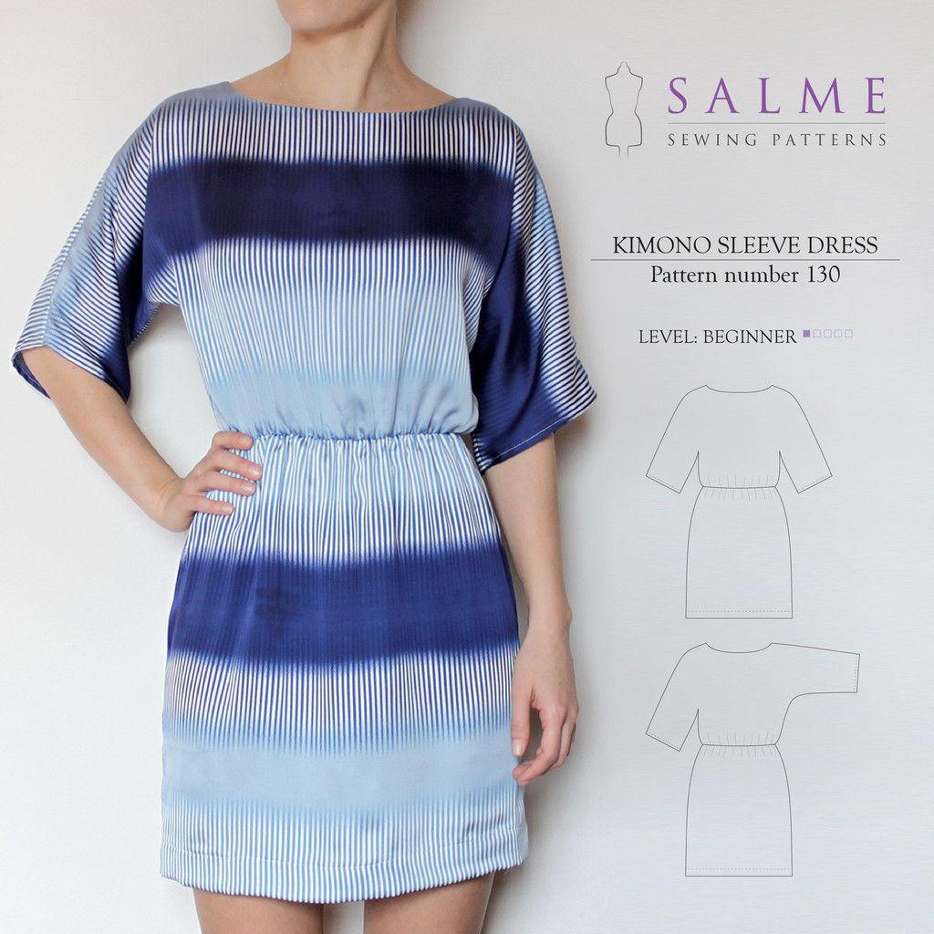 digital sewing pattern kimono sleeve dress n hen. Black Bedroom Furniture Sets. Home Design Ideas