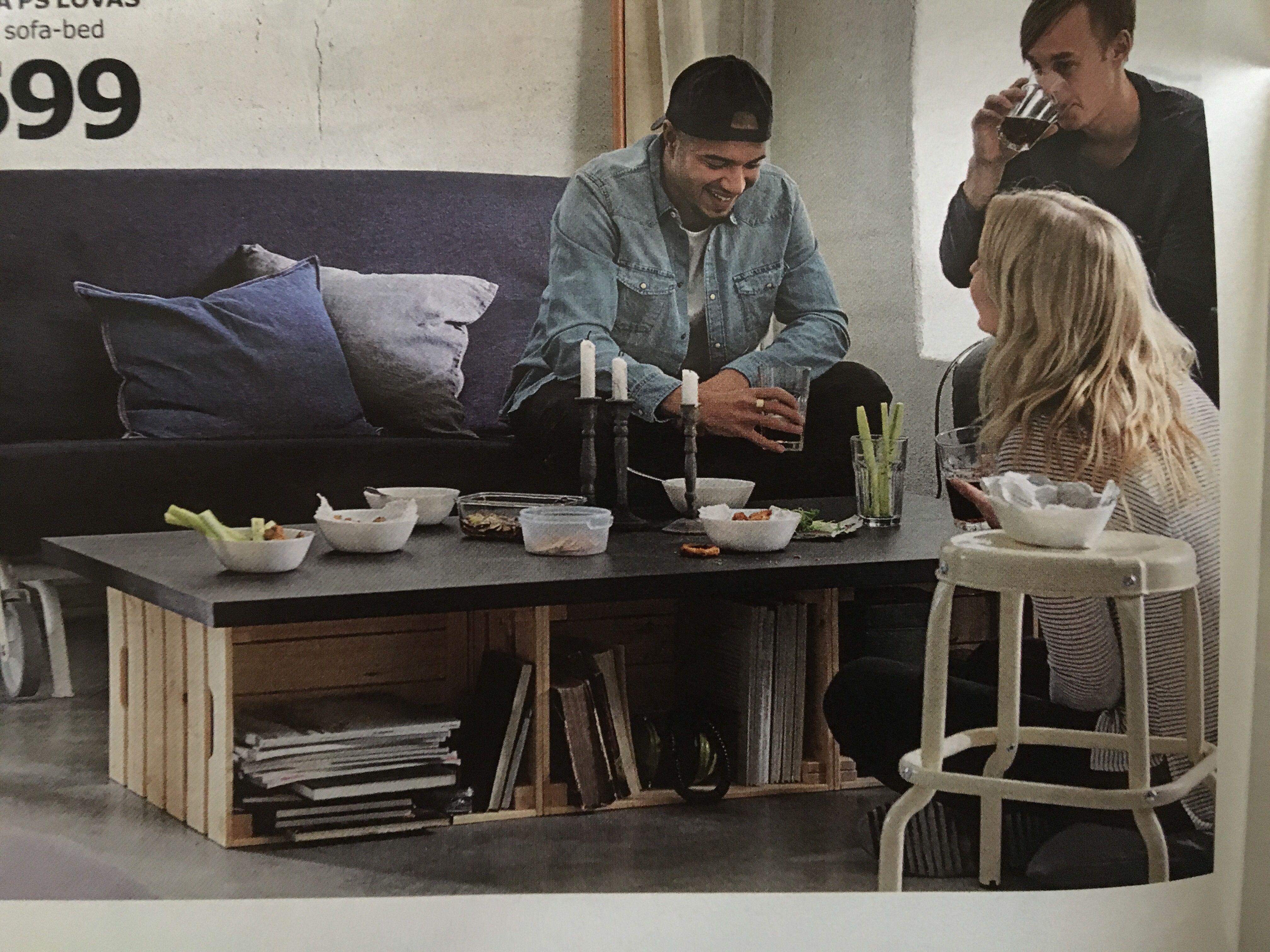 Knagglig Box And Linnmon Table Top Ikea Home 2017 Ikea Table