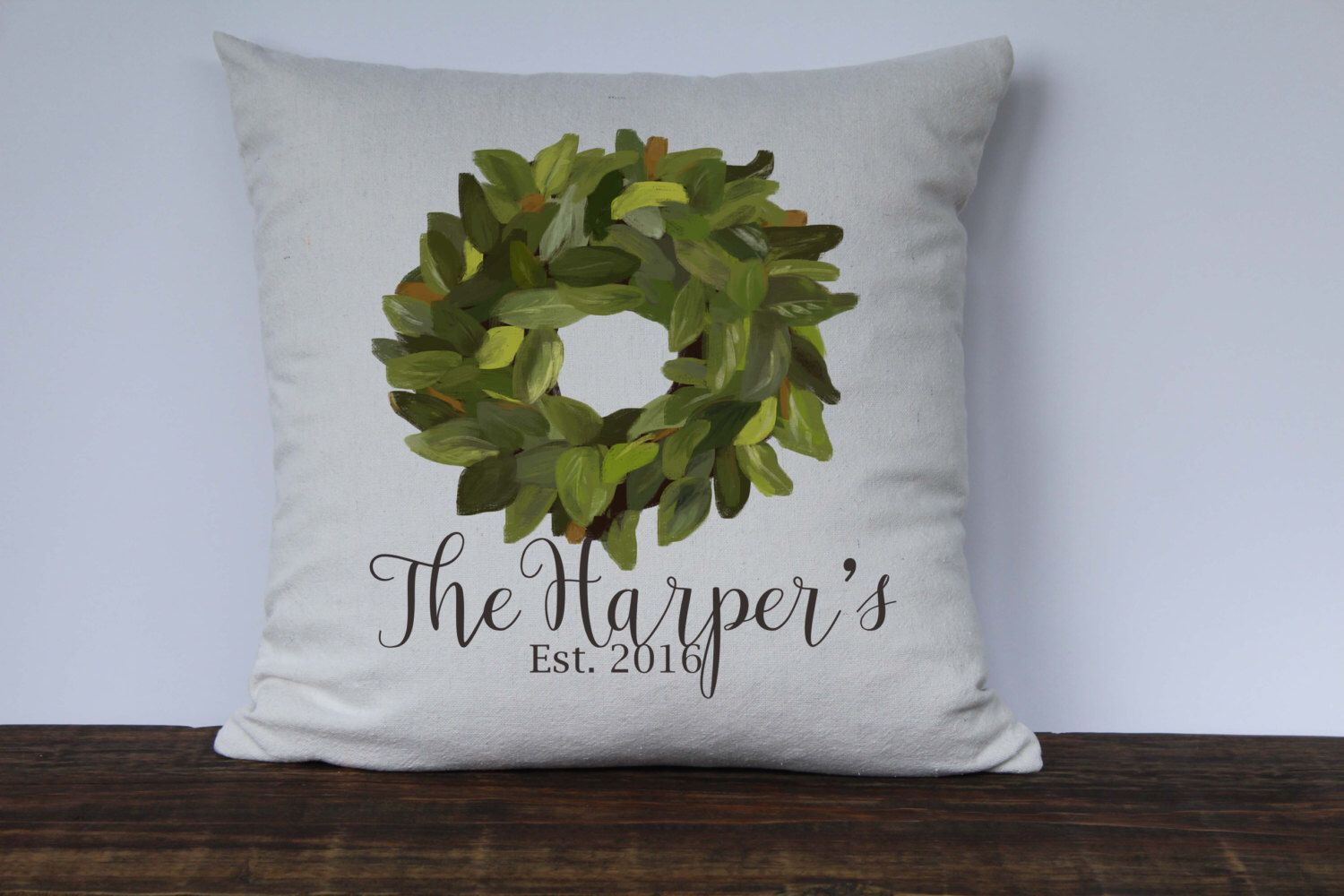 Farmhouse pillow personalized pillow decorative couch
