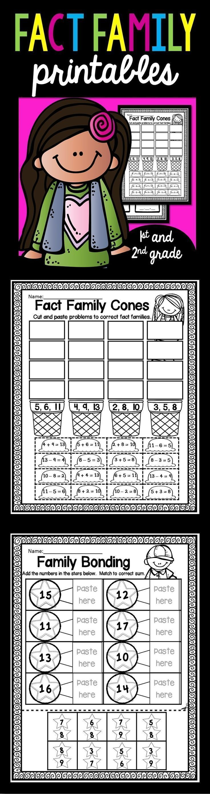 Fact families fact families worksheets and activities