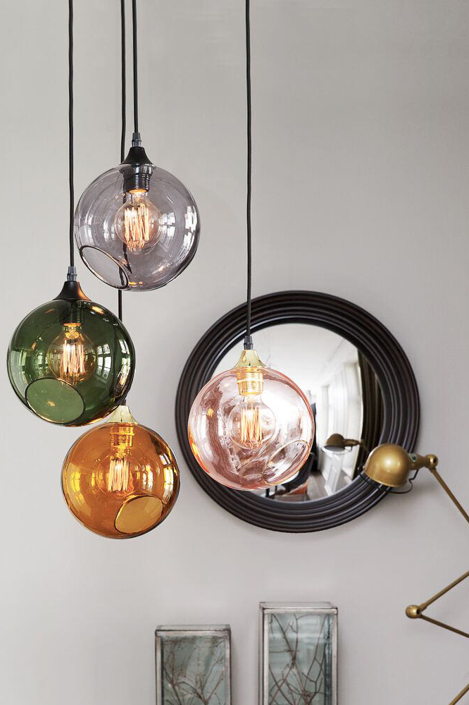 Colourful ballroom pendant lamps made of mouth blown glass | Lights ...