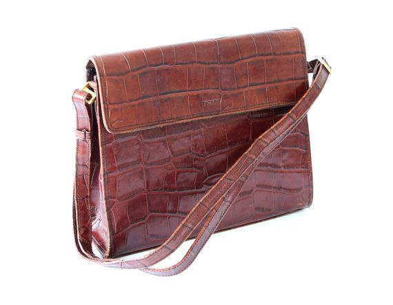 Vintage Picard Leather Bag Brown Gold Germany By Horsesforcourses