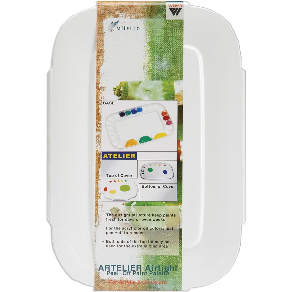 This Pallet Is Just Genius It Has A Lid So The Paint Doesn T Dry Out It Keeps Forever Or At Least Two Weeks O Paint Palette Palette Acrylic Painting Lessons