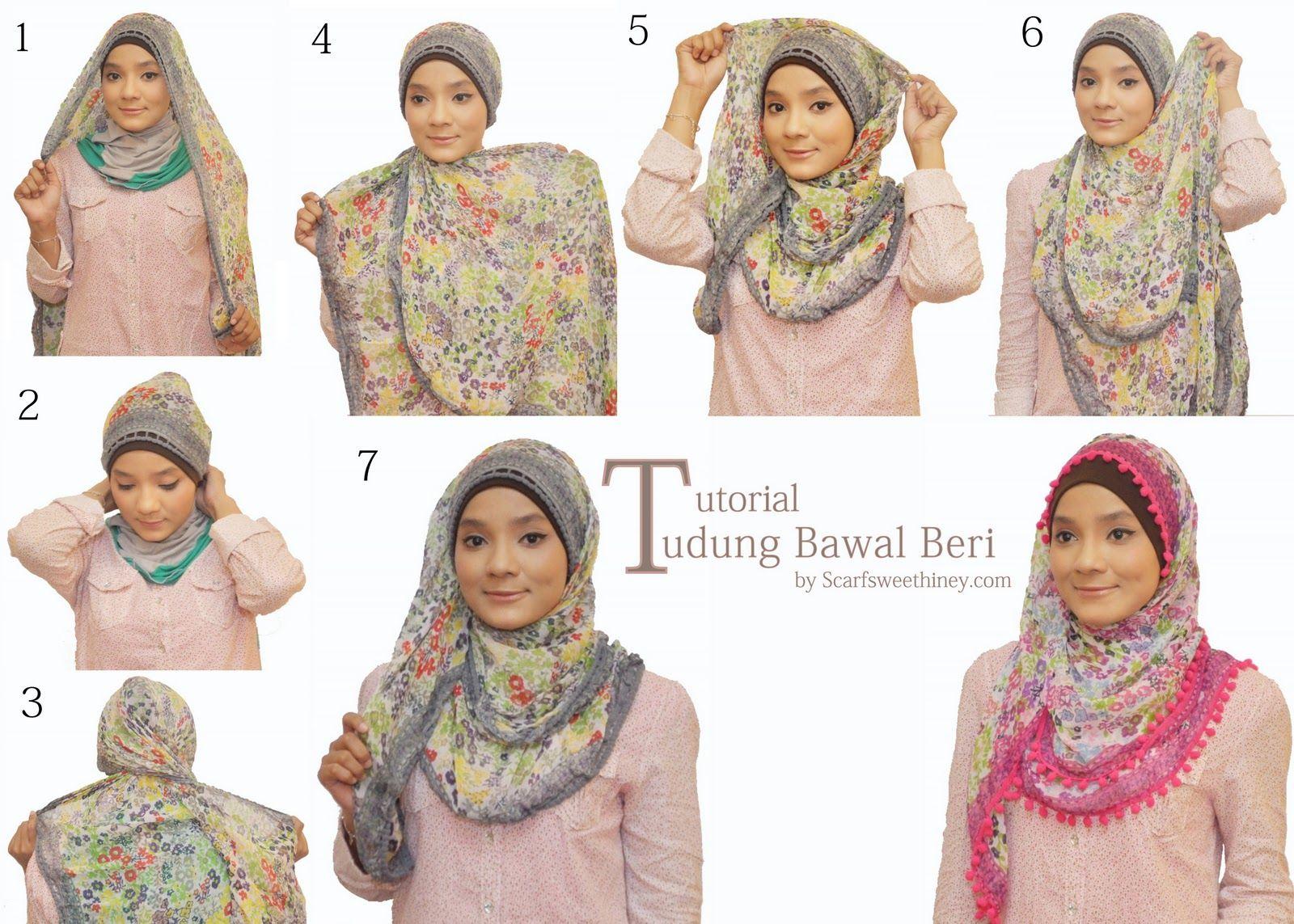 Tutorial Hijab Segi Empat Untuk Wajah Bulat Tutorial Hijab Segi