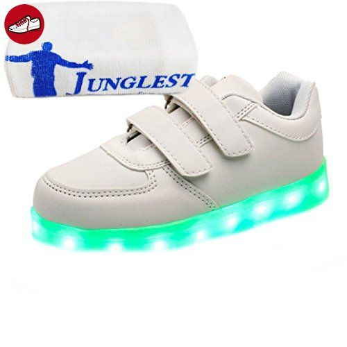 (Present:kleines Handtuch)Weiß EU 43, Sneakers Casual Shoes High Charging Color Women Top 7 Luminous Flash Sport Men Changing JUNGLEST® mode LED-L