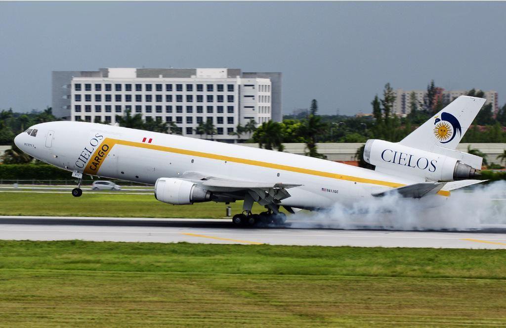 Cielos del Peru / Cielos Airlines (now Centurion Air Cargo) - Douglas DC-10F freighter - via PJ de Jong
