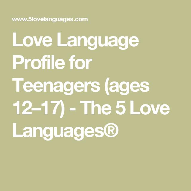 Love Language Profile Foragers Ages 12  Love Languages