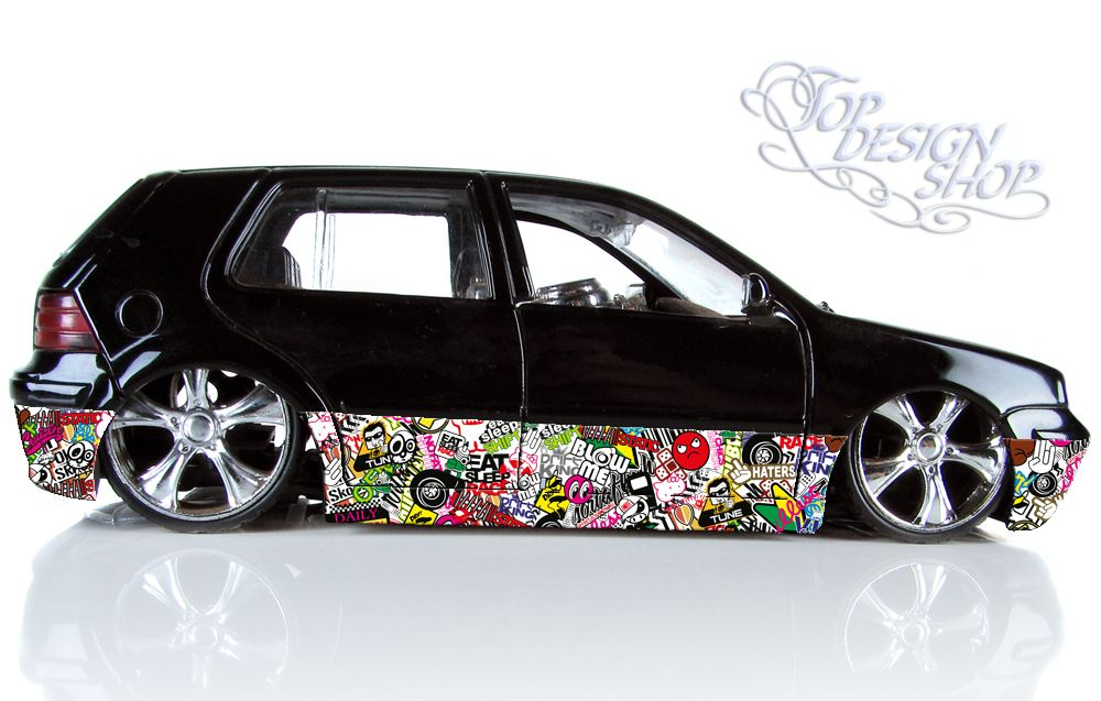 sticker bomb autofolie car wrapping 3d design a carros. Black Bedroom Furniture Sets. Home Design Ideas
