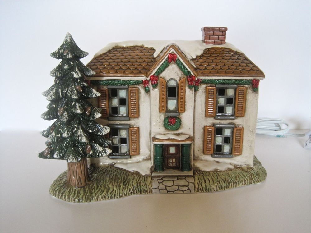 RETIRED LEFTON COLONIAL VILLAGE Leepen House CHRISTMAS HOUSE
