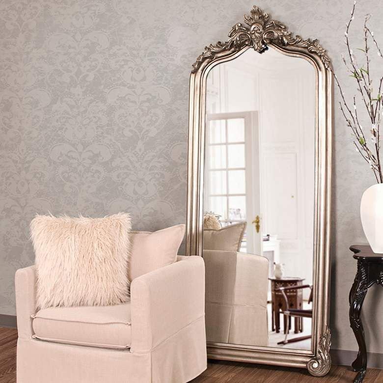 Tudor Champagne Silver 38 X 85 Oversized Floor Mirror 71a24