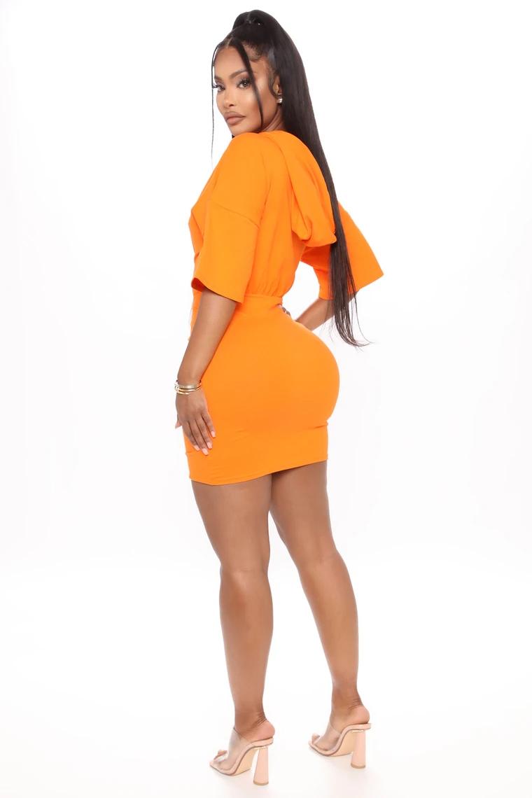 Staying Home Ruched Mini Dress Orange Bodycon Dress Online Online Dress Shopping Fashion [ 1140 x 760 Pixel ]