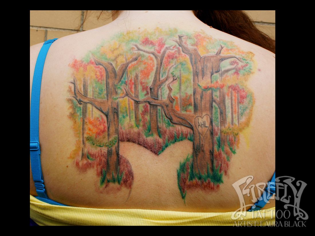 Laura Black Firefly Tattoo: Two Paths Into The Forest Tattoo