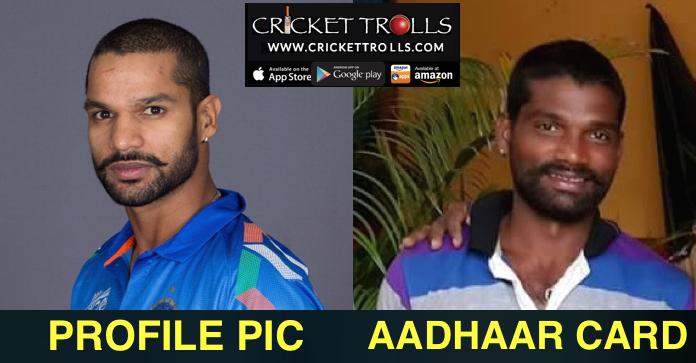 TRUE!! - Profile pic & Aadhaar card!! #INDvsSL #Cricket Cricket Trolls #ShikharDhawan #IPL  http://www.crickettrolls.com/2015/12/20/profile-pic-aadhaar-card/