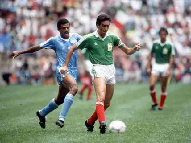 Mexico 1 Iraq 0 in 1986 in Mexico City. Mexican captain Tomas Boy ...